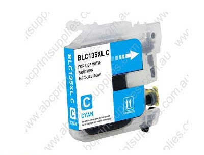 Brother LC135XLC cyan high yield inkjet cartridge compatible
