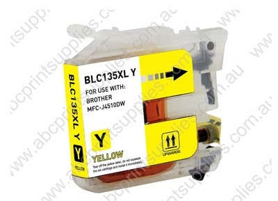 Brother LC135XLY yellow high yield inkjet cartridge compatible