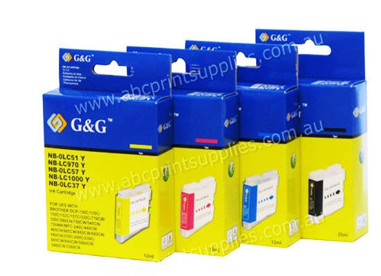 Brother LC37  Ink Cartridge BCMY Bundle Pack Compatible
