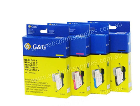 Brother LC67B LC67C  LC67M & LC67Y  bundle compatible printer cartridges