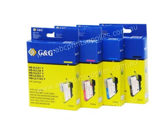 Brother LC38 BCMY bundle compatible printer cartridges