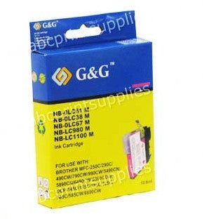 Brother LC67M compatible magenta ink cartridge