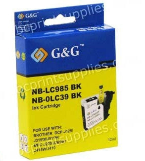 Brother LC39XB printer cartridge for DCPJ125, DCPJ315W, DCPJ515W, MFCJ220, MFCJ265W, MFCJ410, MFCJ415W printers from Brother