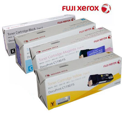 Xerox C1190 B,C,M,Y Bundle Laser Cartridges Genuine