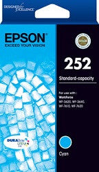 Epson WF-3640 Cyan (C13T252292) Genuine Ink Cartridge