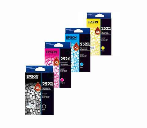Epson WF-3640 High Yield BCMY BUNDLE of 4 Genuine Ink Cartridges