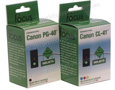 Canon PG40 & CLI41 Black & Tricolour Combo Pack Remanufactured