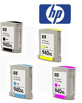 HP C4906-9AA (HP 940XL) Genuine  B,C,M,Y Value Pack High Yield (4) Ink Cartridges