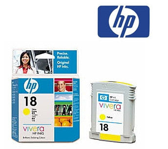 HP C4939A (HP 18) Genuine Yellow Ink Cartridge