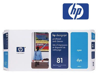 HP C4951A (HP 81)  Genuine Cyan Dye Printhead & Cleaner
