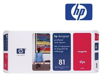 HP C4992A (HP 81)  Genuine Magenta Dye Printhead & Cleaner Value Pack
