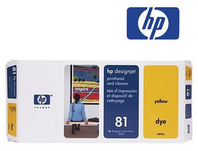 HP C4993A (HP 81)  Genuine Yellow Dye Printhead & Cleaner Value Pack