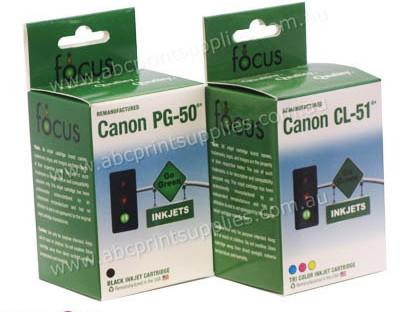 Canon PG50 & CLI51 Black & Tricolour Bundle Pack Remanufactured
