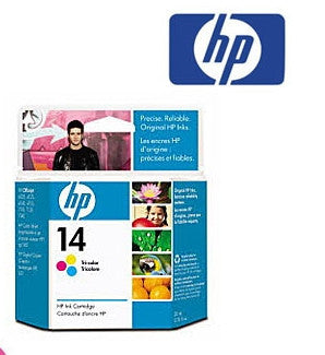 HP C5010A (HP 14) genuine Tricolour Wide Format Ink Cartridge