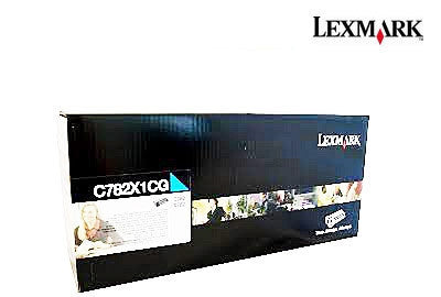 Lexmark C782X1CG Genuine Extra High Yield Prebate Cyan Laser Cartridge