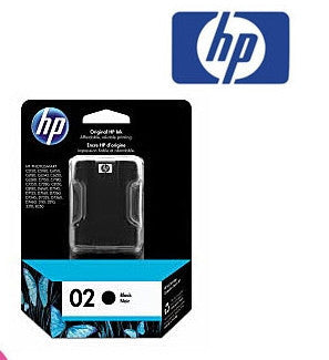 HP C8721WA (HP 02) Genuine Black Ink Cartridge