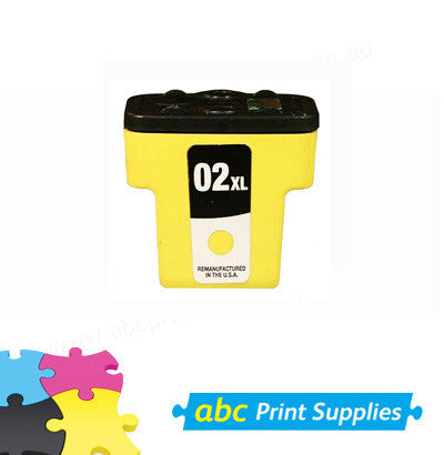 HP02XL (C8732) High Yield Yellow Ink Cartridge Remanufactured