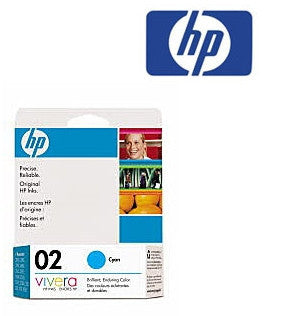 HP C8771WA (HP 02)  Genuine Cyan Ink Cartridge