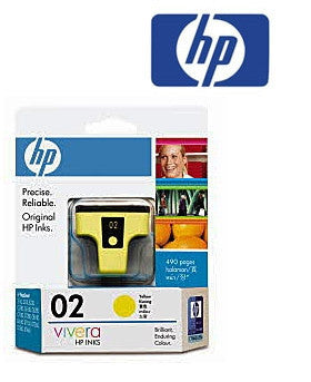 HP C8773WA (HP 02)  Genuine Yellow Ink Cartridge