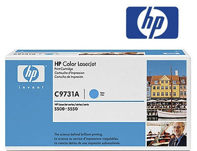 HP C9731A  Genuine  Laser Toner Cartridge - 12,000 page yield