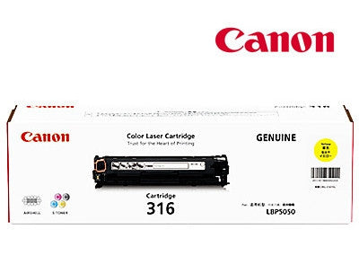 Canon Cart316Y Genuine Yellow Cartridge
