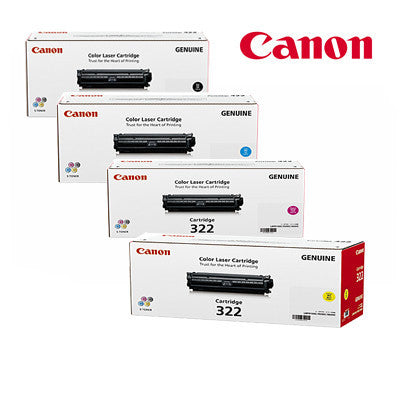 Canon Genuine Cart-322 BCMY BUNDLE Laser Cartridges