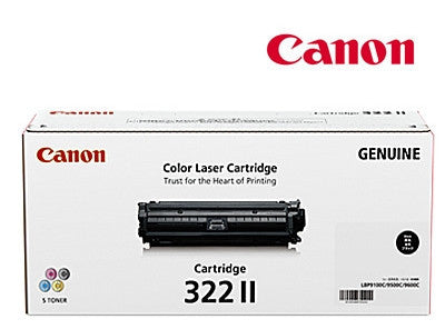 Canon Cart-322BKII Genuine Black High Yield Toner Cartridge