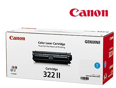 Canon Cart-322CII Genuine Cyan High Yield Toner  Cartridge