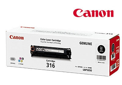 Canon Cart-316BK genuine toner cartridge for  LBP5050N by Canon