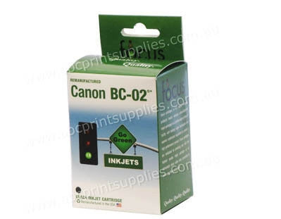 Canon BC 02 Black Ink Cartridge Remanufactured