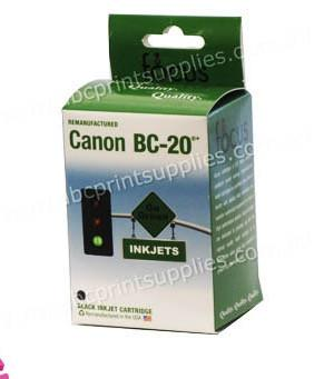 Canon BC20 Black Ink Cartridge Remanufactured (Recycled)