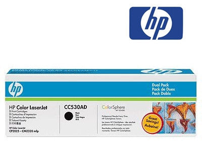 HP CC530AD Genuine Black Toner Dual Pack Cartridge