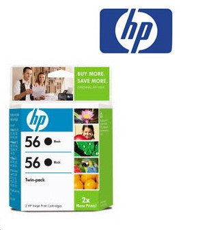 HP CC620AA (HP 56) Black Ink Cartridge Twin Pack