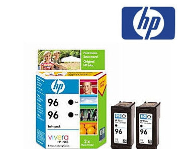 HP CC623AA  (HP 96) Genuine High Yield Black Ink Cartridge Twin Pack