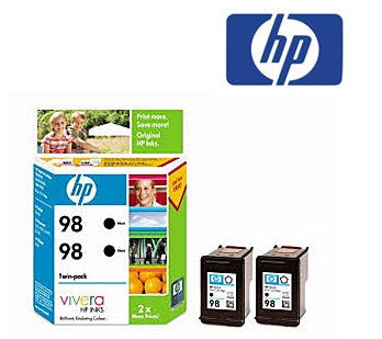 HP CC624AA (HP 98) Genuine Black Ink Cartridge Twin Pack