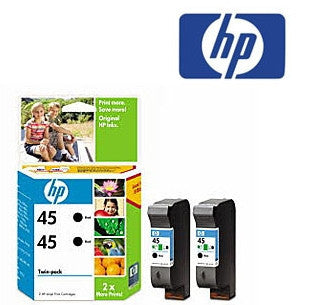 HP CC625AA  (HP45) Genuine Black Ink Cartridge Twin Pack
