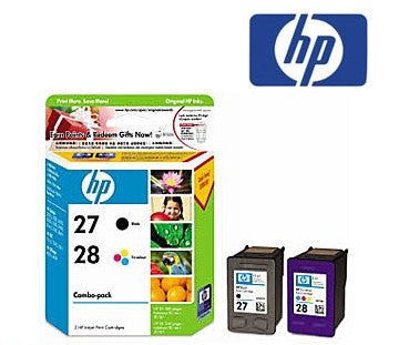 HP CC628AA (HP27, HP28) Genuine Black/colour Ink Cartridge Combo Pack