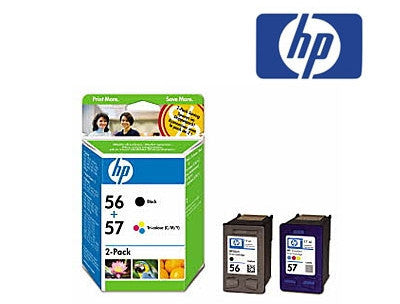 HP CC629AA (HP56 & HP57) Black and Tricolour Ink Cartridge Combo Pack