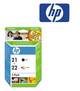 HP CC630AA HP 21/22 Genuine Black, Tricolour Ink Cartridges Combo Pack