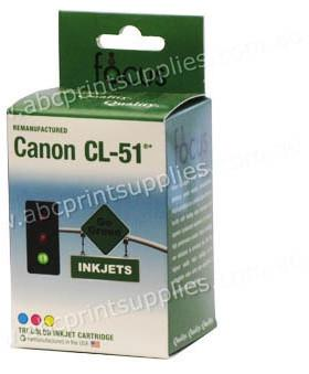 Canon CL51 TriColour Ink Cartridge Remanufactured (Recycled)