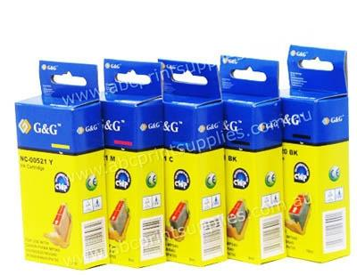 Canon PGI520BK, CLI521BK, CLI521C, CLI521M, CLI521Y bundle inkjet compatible printer cartridges