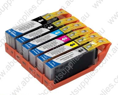 Canon CLI651 B PB C M Y Ink Cartridges BUNDLE (with chips) Compatible