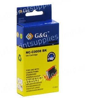 Canon iP4300  Photo Black Ink Compatible Cartridge with Chip (CLI8BK)
