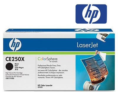 HP CE250X (HP50X) Genuine High Yield Black Toner Cartridge