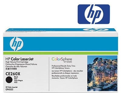 HP CE260X Genuine Black High Yield Toner Cartridge