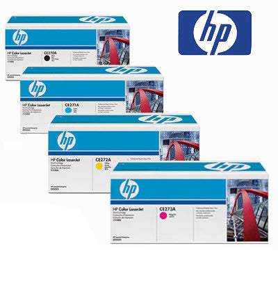 HP LaserJet CE270-3A Genuine B,C,M,Y Bundle Toner Cartridges