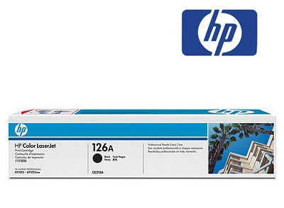 HP CE310A, HP 126A  black toner cartridge used by HP LaserJet CP1025nw, LaserJet Pro 100 MFP M175