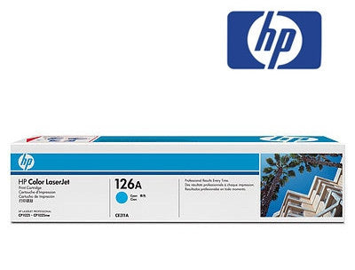 HP CE311A (126A) Genuine Cyan Toner Cartridge for Colour LaserJet CP1025nw, Colour LaserJet Pro 100 M175