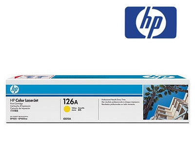 HP CE312A (126A) Genuine Yellow Toner Cartridge Colour LaserJet CP1025nw, Colour LaserJet Pro 100 M175