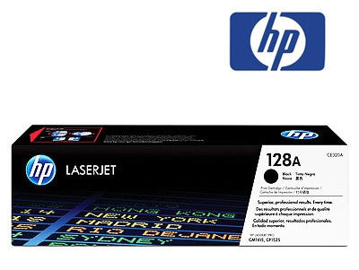 HP CE320A, 128A genuine black toner cartridge